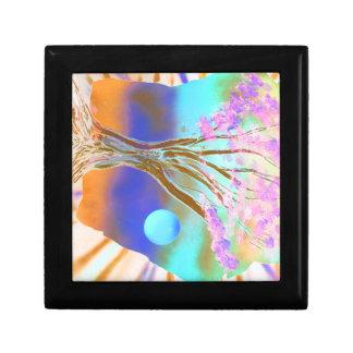 tree rock spacepainting inverted colours keepsake box