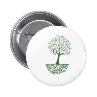 Tree ~ Roots of Life Colorful Scroll Trees Buttons