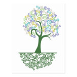Tree ~ Roots of Life Colorful Scroll Trees Post Cards