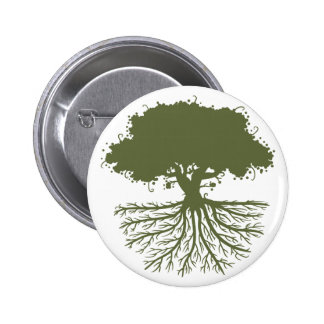 Tree Roots Pinback Button