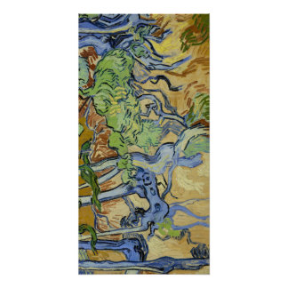Tree roots, trunks, Vincent van Gogh, customize Poster