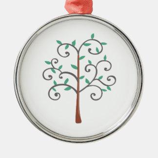 TREE ROUND METAL CHRISTMAS ORNAMENT