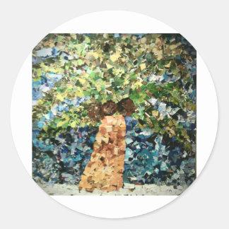 Tree Round Stickers