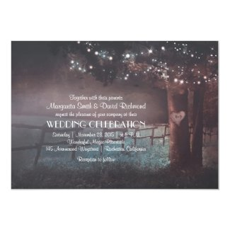 Tree Rustic Summer Outdoor Wedding invitation