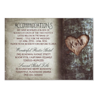 "tree rustic wedding accommodations cards 3.5"" x 5"" invitation card"