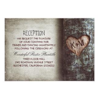 tree rustic wedding reception & driving directions custom invitations