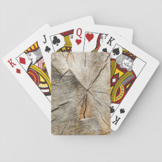 Tree Section Cross Playing Cards
