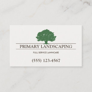 tree service and lawn care landscaper business card - Tree Service Business Cards
