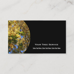 tree service business card - Tree Service Business Cards