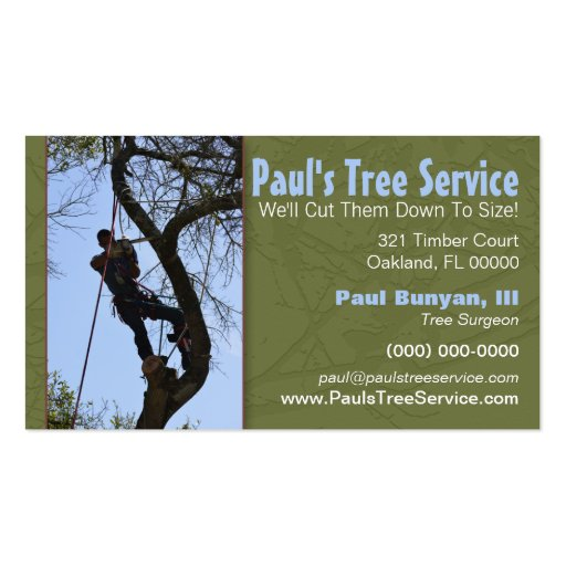 Tree service business card zazzle for Tree removal business cards