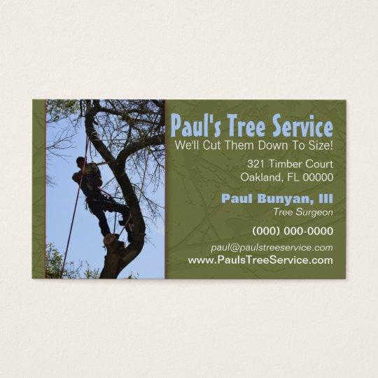 Tree service business card zazzlecom for Tree service business card