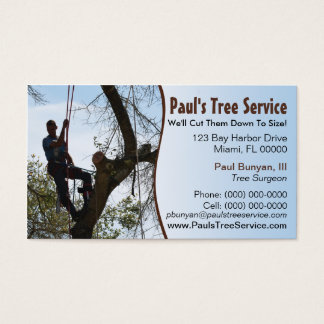 tree surgeon business cards templates zazzle - Tree Service Business Cards