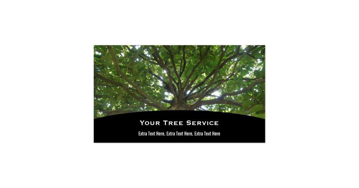 Tree service business card zazzle for Where can i use my synchrony home design card