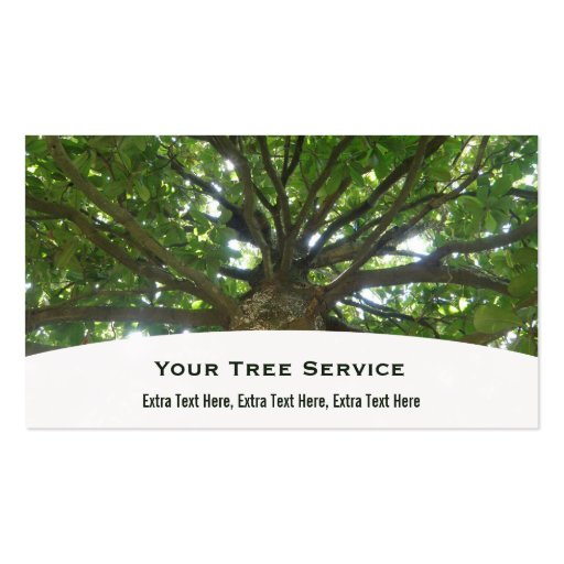 Tree Service Business Card Zazzle