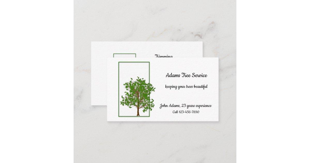 Tree Service or Arborist Business Card | Zazzle.com