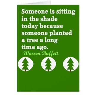 Tree shade card