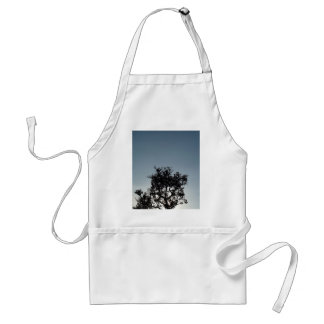 tree  silhouette adult apron