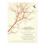 Tree Silhouette Bridal Shower Invitation (coral)