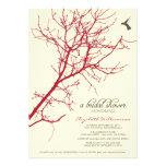 Tree Silhouette Bridal Shower Invitation (crimson)