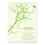Tree Silhouette Bridal Shower Invitation (lime)