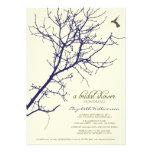 Tree Silhouette Bridal Shower Invitation (navy)