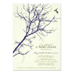 Tree Silhouette Bridal Shower Invitation (navy)