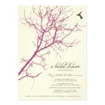 Tree Silhouette Bridal Shower Invitation (plum)