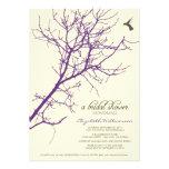 Tree Silhouette Bridal Shower Invitation (purple)