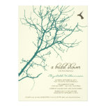 Tree Silhouette Bridal Shower Invitation (teal)