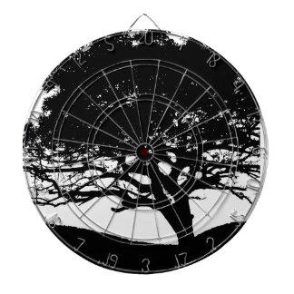 Tree Silhouette Dartboard