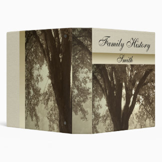 Tree Silhouette Family History Album 3 Ring Binder