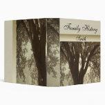 Tree Silhouette Family History Album Vinyl Binders