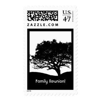 Tree Silhouette -Family Reunion Postage