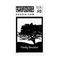Tree Silhouette -Family Reunion Postage