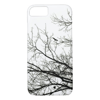 Tree Silhouette Flying Bird iPhone 7 Case