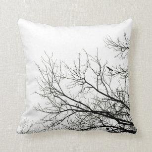 Tree Silhouette Flying Bird pillow