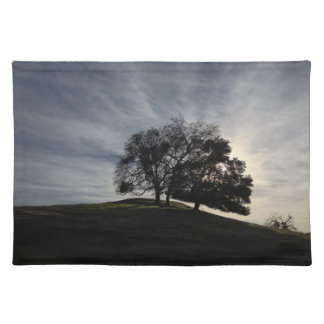 Tree Silhouette in Fall Sunset Placemat