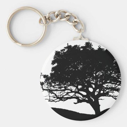 Tree Silhouette Keychain