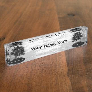 Tree Silhouette Desk Nameplate