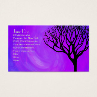 Tree Silhouette (Northern Lights) Business Card
