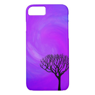 Tree Silhouette (Northern Lights) iPhone 7 Case