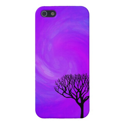 Tree Silhouette (Northern Lights) Case For iPhone 5