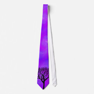 Tree Silhouette (Northern Lights) Tie