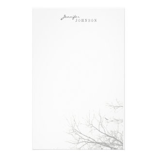 Tree Silhouette personal stationery