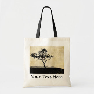 Tree Silhouette Photo Art Bags