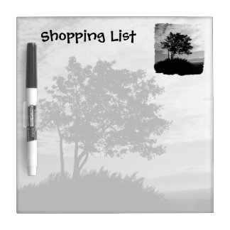 Tree Silhouette Shopping List Dry Erase Board