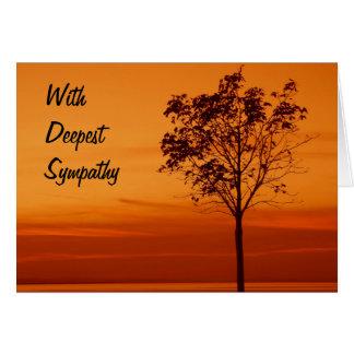 Tree Silhouette - Sympathy Card