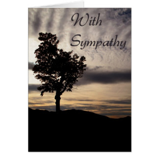 Tree Silhouette Sympathy Card
