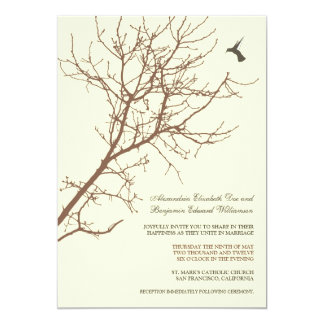 Tree Silhouette Wedding Invitation (chocolate)