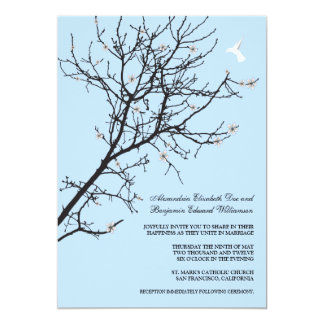 Tree Silhouette Wedding Invitation (custom)